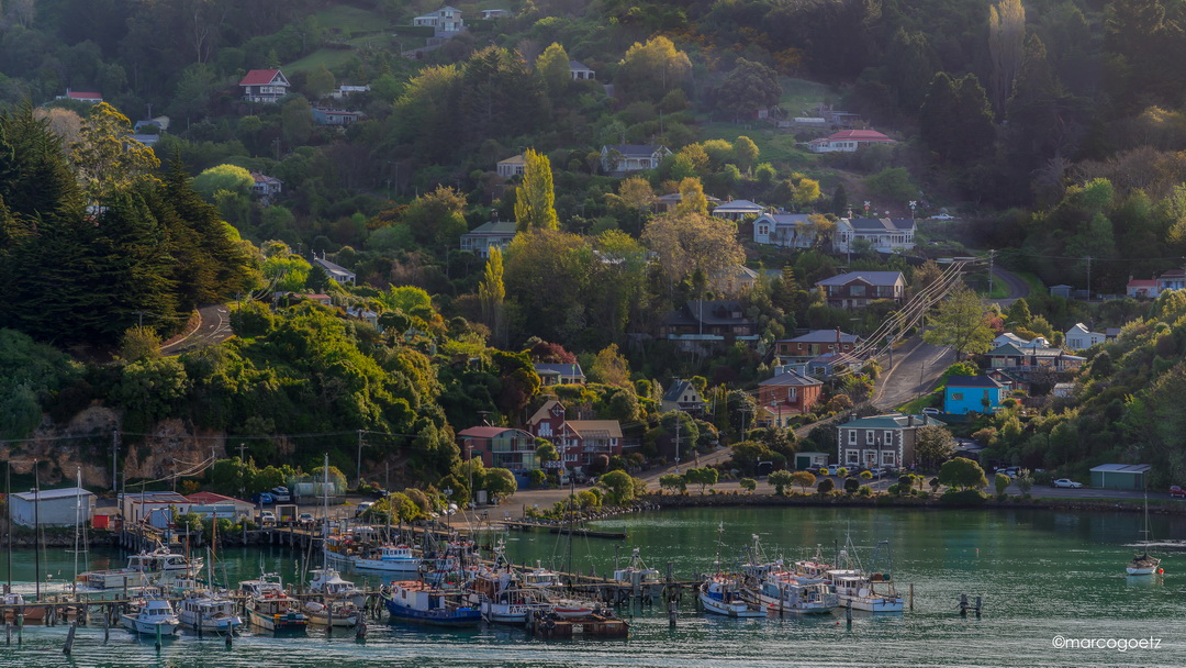 CAREYS BAY WHARF PORT CHALMERS NEW ZEALAND
