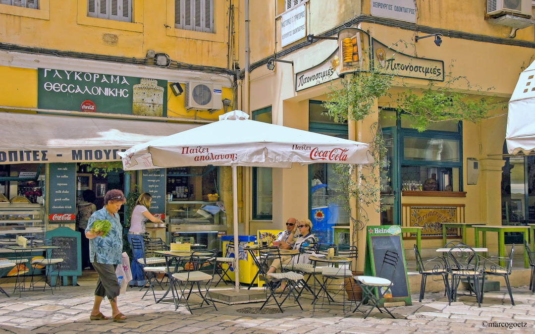 GREEK CAFE CORFU GREECE